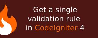 How to get a single validation rule from model in CodeIgniter 4?